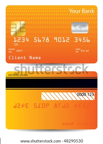 Textured credit card design - stock vector