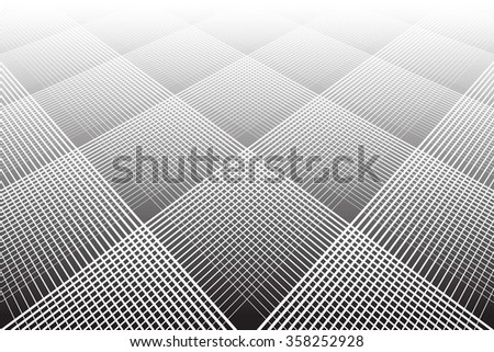 Textured geometric background. Tiled surface. Vector art. - stock vector