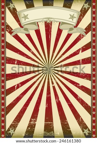 textured red retro background  A vintage background with red sunbeams - stock vector