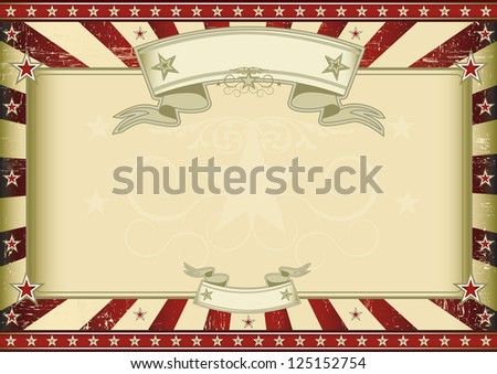 Textured red retro certificate. A vintage horizontal poster with a large copy space for you. Perfect size for a screen. - stock vector