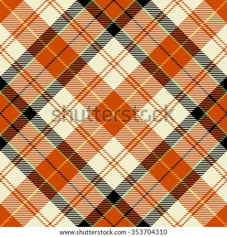 Textured tartan plaid. Seamless vector pattern - stock vector