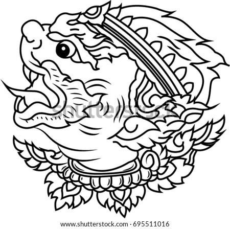 thai ancient tattoo hanuman tattoo 695511016 shutterstock. Black Bedroom Furniture Sets. Home Design Ideas