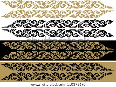 Thai art pattern, Vector illustration isolated on white background