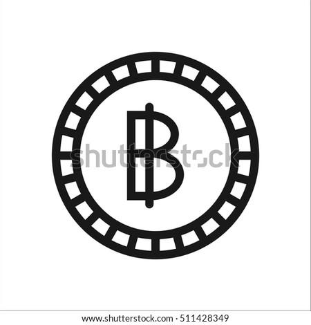 Thai Baht Coin Symbol Sign Line Stock Vector 511428349 Shutterstock