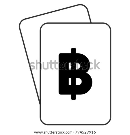 Thai Baht Playing Cards Icon Vector Stock Vector 794529916