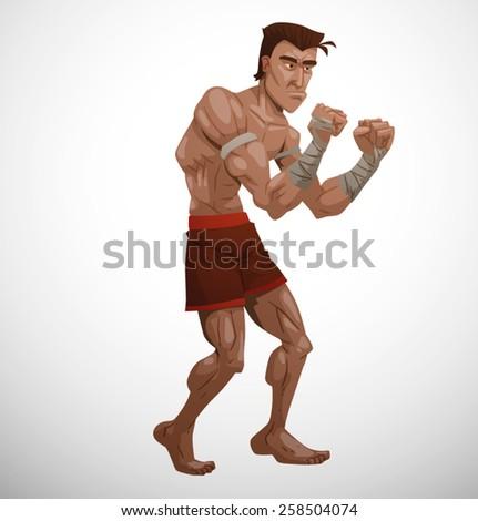 Thai Boxer, vector - stock vector