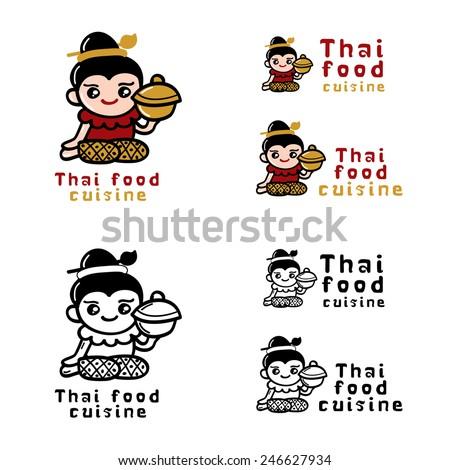Thai food logo concept Vector - stock vector