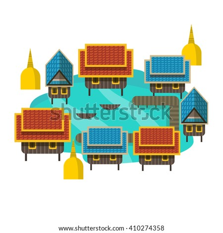 Thai house stock images royalty free images vectors for Thai classic house 2