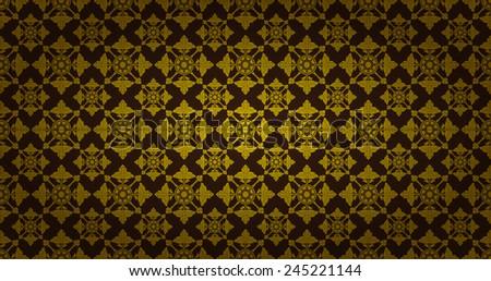 Thai style art pattern wallpaper - stock vector