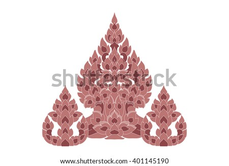 Thai style colorful flower pattern