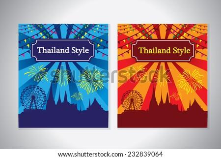 Thailand Festival Temple Fair-1 - stock vector