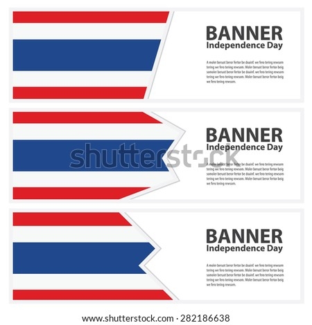 thailand Flag banners collection independence day - stock vector