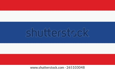 thailand  Flag for Independence Day and infographic Vector illustration. - stock vector