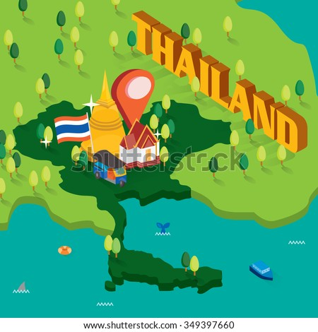 Thailand isometric map