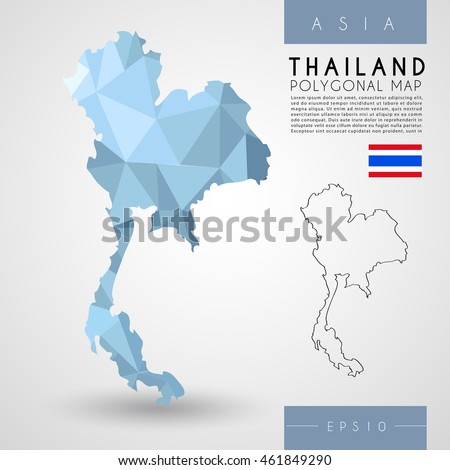 Thailand low poly map vector illustration stock vector 461849290 thailand low poly map vector illustration gumiabroncs Images