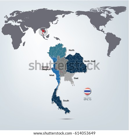 Thailand map world map vector your stock vector 2018 614053649 thailand map and world map vector for your design concept illustration gumiabroncs Image collections