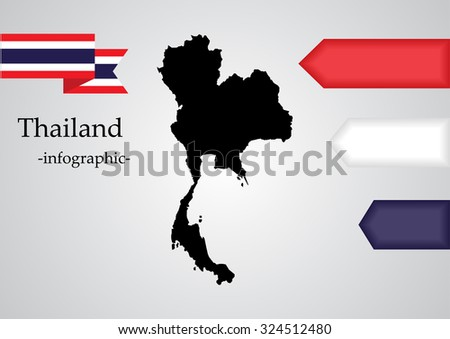 thailand map for infographic elements vector
