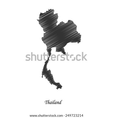 Thailand map icon for your design, concept Illustration. - stock vector