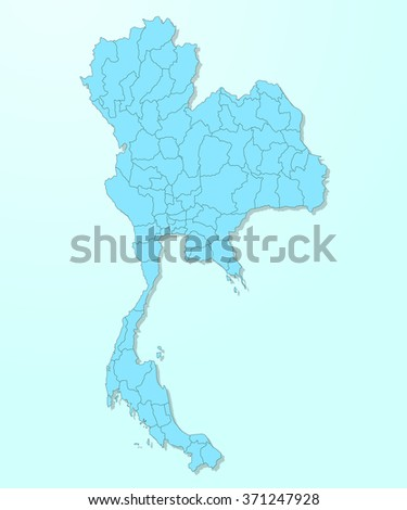 Thailand map on blue degraded background vector - stock vector