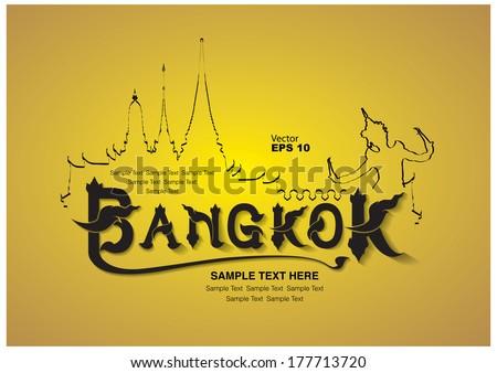 thailand travel design, vector illustration - stock vector