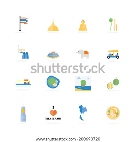 Thailand travel. Famous Tours & Activities icon, Vector illustration design. - stock vector