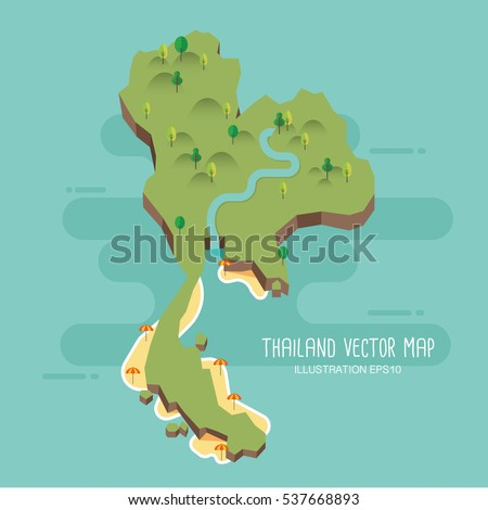 Thailand vector map stock vector 537668893 shutterstock gumiabroncs Images