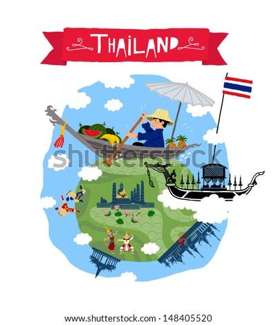 Thailand vector pattern - stock vector