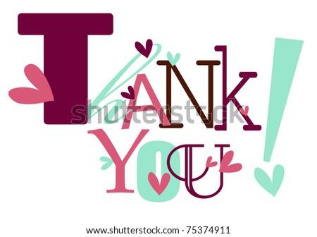 Thank You - stock vector