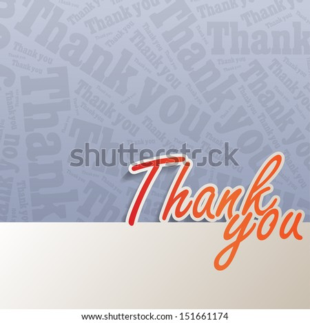 Thank you background with space for your text (EPS10 Vector) - stock vector
