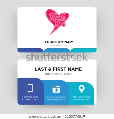 Thank you business card design template stock vector 1103774519 thank you business card design template visiting for your company modern creative and fbccfo Images