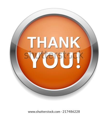 thank you button - stock vector