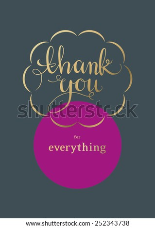 Thank You Card - stock vector