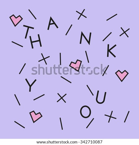 Thank you card. Abstract vector illustration.