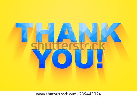 Thank you card design. vector illustration. - stock vector