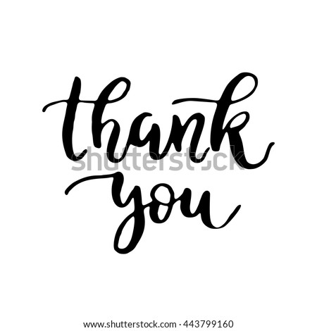 Vector Calligraphy Thank You Poster Card Stock Vector