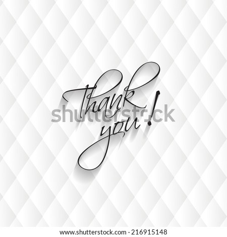 Thank you card, modern leather background. Vector illustration. Eps 10 - stock vector