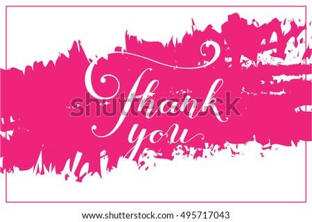 thank you card poster template creative stock vector 495717043