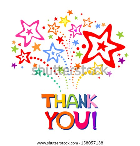 Thank you card. Vector Illustration - stock vector