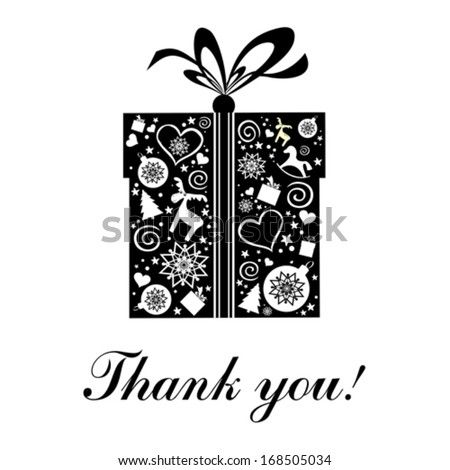 Thank you card. Vector illustration.  - stock vector