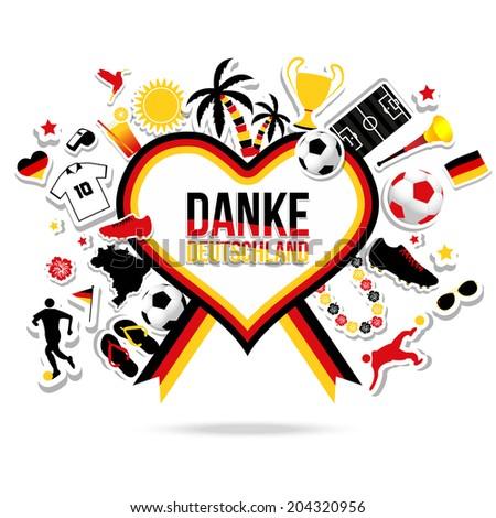 Thank You Germany Soccer Brazil Stock Vector 204320956 Shutterstock