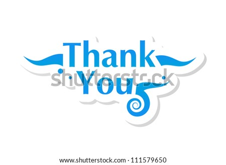 thank you graphic - stock vector
