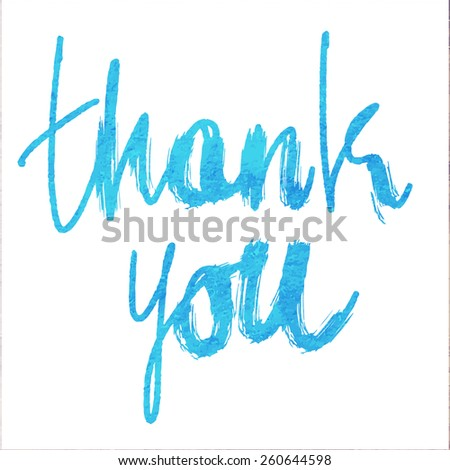 THANK YOU hand lettering - stock vector