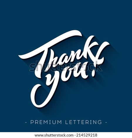 Thank You Hand lettering handmade vector calligraphy  - stock vector
