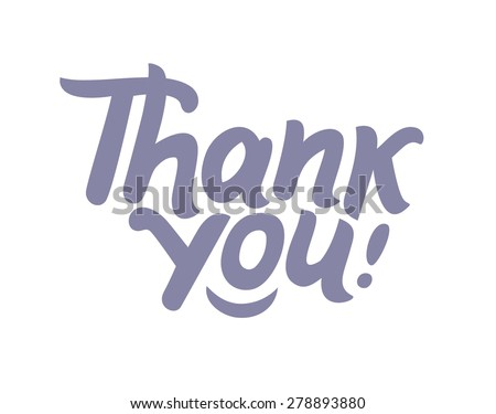 Thank you. Hand lettering vector - stock vector