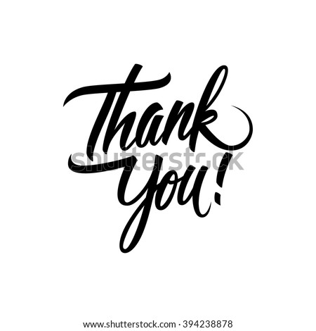 Thank You handwritten inscription. Hand drawn lettering. Thank You calligraphy. Thank you card. Vector illustration. - stock vector