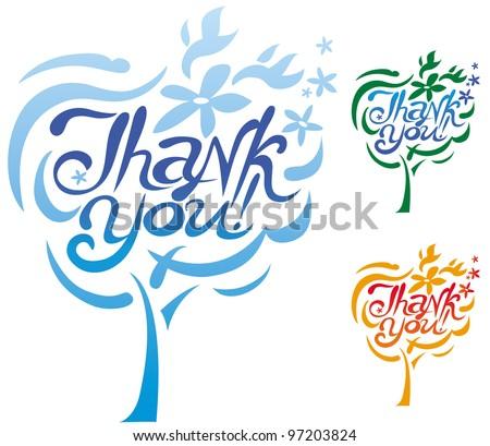 Thank You inscription - stock vector