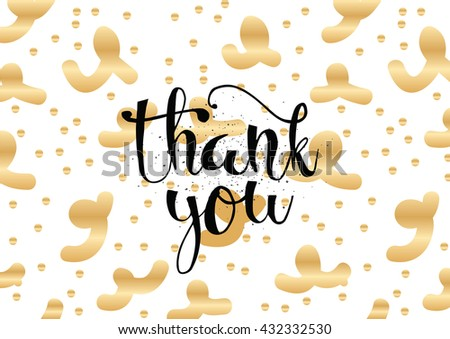 Thank you inscription. Greeting card with calligraphy. Hand drawn lettering. Typography for banner, poster, invitation or clothing design. Vector quote. - stock vector