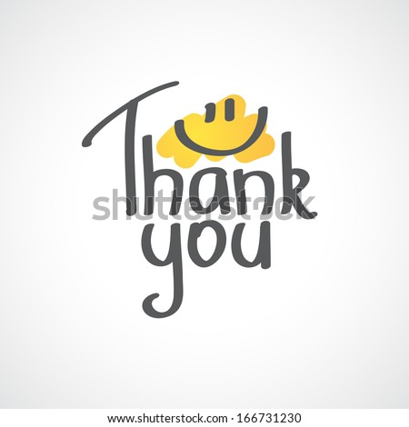 Thank You inscription, hand drawn vector illustration - stock vector