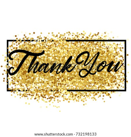 thank you lettering over gold vector stock vector royalty free