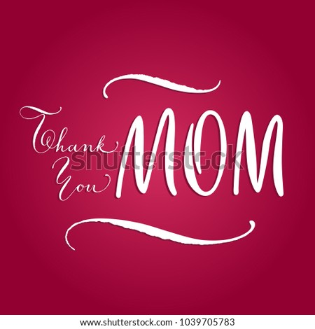 thank you mom cute mothers day stock vector royalty free